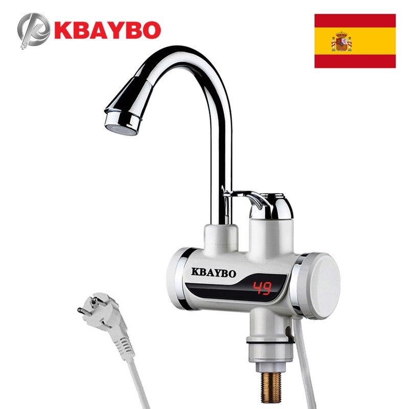calentador de agua electrico 3000 W, grifo de cocina puede surtir agua caliente y fría, en solo 3 segundos cambia de agua fría a caliente