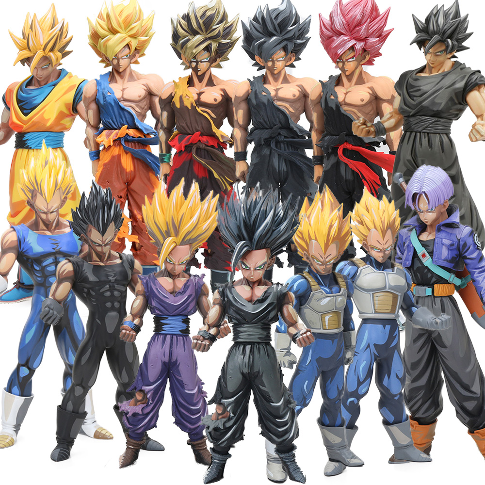 12styles 23-34cm Manga Dimensions Vegeta Son Goku Son Gohan PVC Action Figure Dragon Ball Z Master Stars Piece Model Dolls MSP(China)