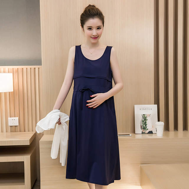 75096b91e79 placeholder Maternity dress summer spring solid long sleeve dress  Breastfeeding dresses Nursing clothes Pregnant Women maternity clothes