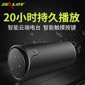 Nova zealot s8 touch control sem fio sports bluetooth speaker 4000 mah banco de potência portátil cartão tf aux subwoofer suporte 3d