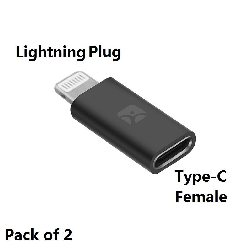 USB Type-C Female To Lightning Male Adapter, Type-C Cable With Charge & Sync Data For Convert Huawei,Samsung To IPhone/iPad/iPod