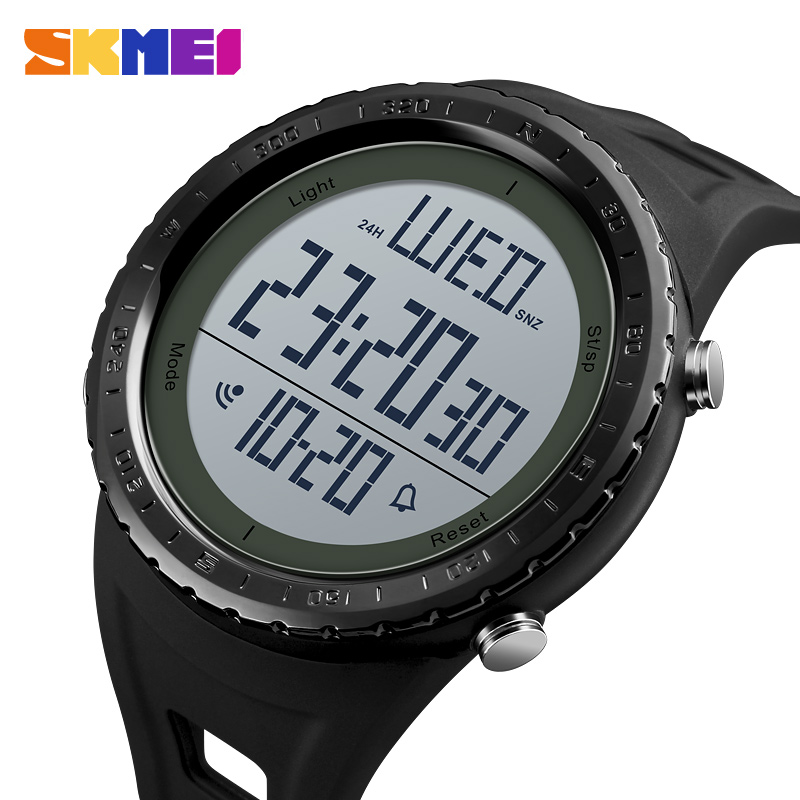 Delightful Colors And Exquisite Workmanship Novel Designs Modest Skmei Outdoor Sport Watch Men Big Dial Simple Chronograph Shock Watches 5bar Waterproof Digital Watch Reloj Hombre Famous For Selected Materials