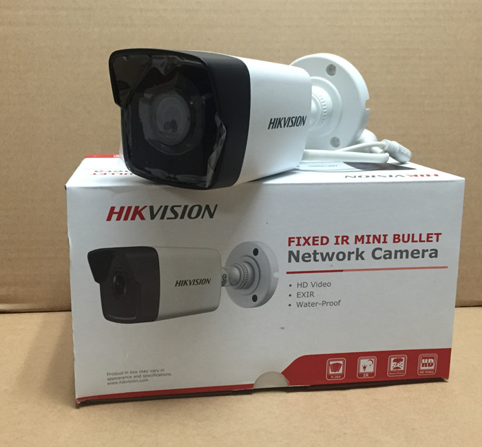 Hikvision Bullet Camera DS-2CD1021-I CCTV Camera 2Megapixel CMOS Network Camera PoE Outdoor  Security CCTV Camera bullet camera tube camera headset holder with varied size in diameter