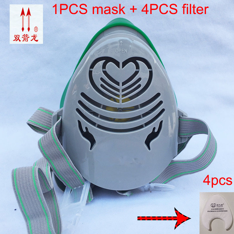 Respirator dust mask  Filter cotton Dust-proof Anti-fog and haze Anti-particles Anti fiber industrial safety equipment ccgk 6200 7 piece suit respirator gas mask dust proof anti fog and haze anti formaldehyde spraying face respirator masks 6001