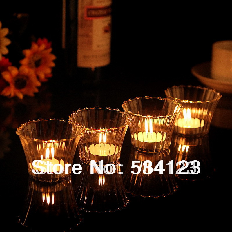 4pcs <font><b>Crystal</b></font> <font><b>votive</b></font> tealight holder clear glass <font><b>cup</b></font> as candle holders home decoration freeshipping candlestick