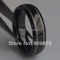 2tone black 6mm men/women hi tech scratch proof wedding tungsten ring