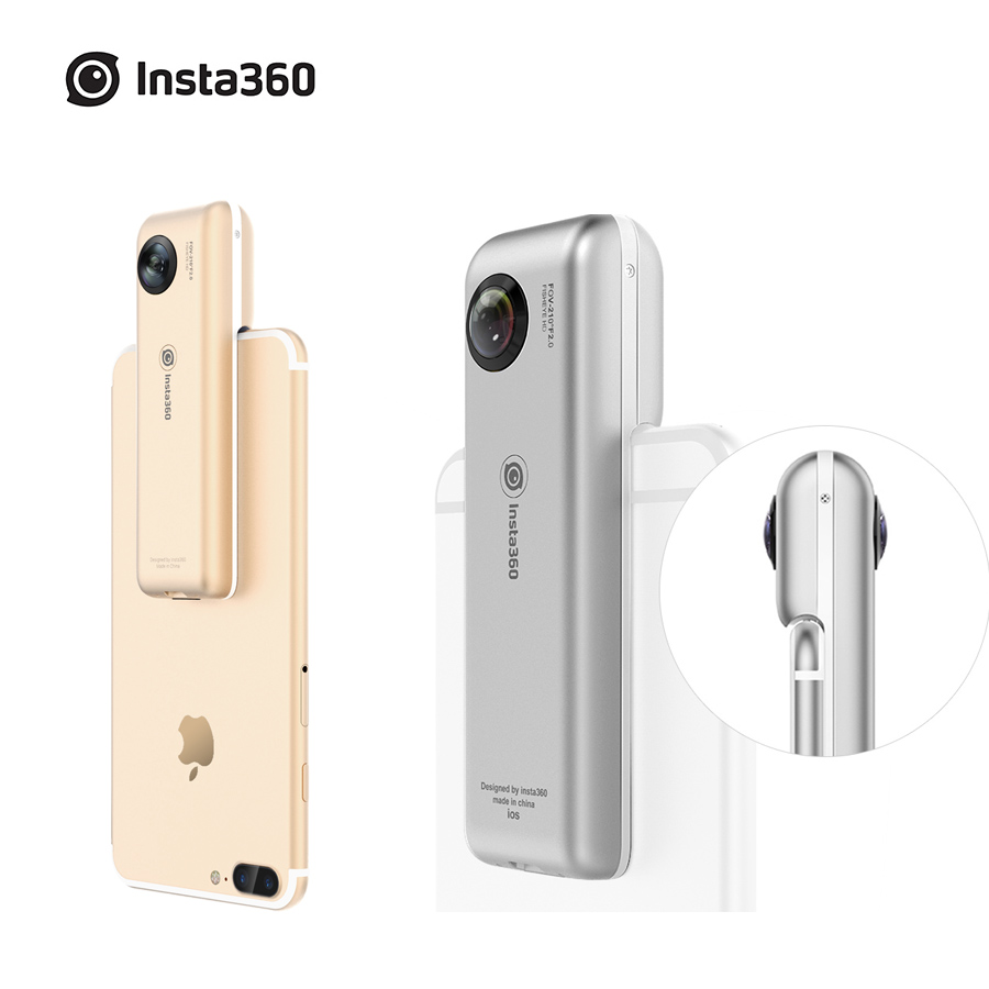 Insta360 Nano 3K HD 360 Panoramic Camera VR Camera 210 Degree Dual Wide Angle Fisheye Lens 360 Camera for iPhone 7 7+ 6 6s 6+ 720 360 degree panoramic camera vr camera hd video dual wide angle lens real time seamless stitching for android smartphone