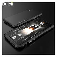 Dulcii Phone Cases For IPhone X Ten Shell Drop Proof PC Back Plate Metal Edges Hybrid
