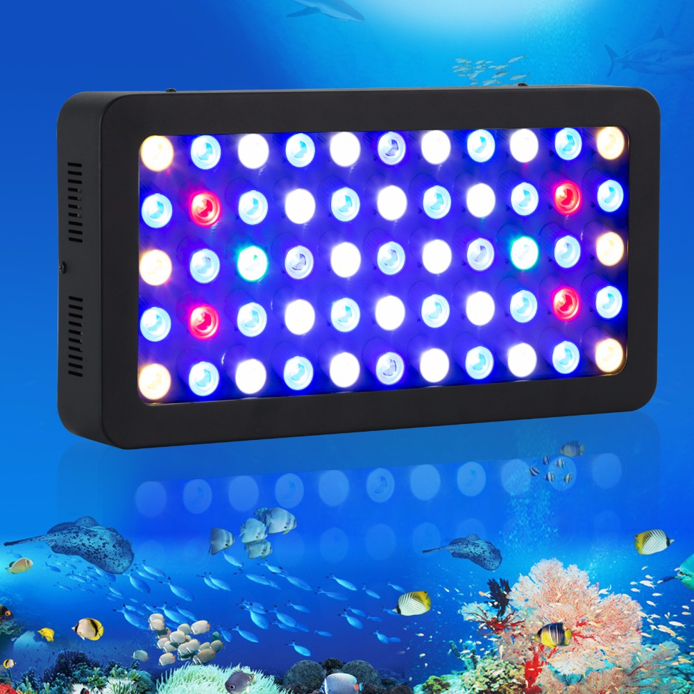 Dimmable Full Spectrum 165w Led Aquarium Light Fish Tank Reef Coral Lighting ծովային ակվարիումի լամպի պաշարը ԱՄՆ / DE / CA / AU