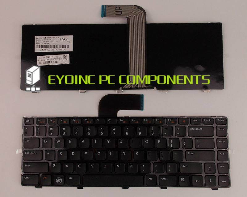 Genuine Laptop Keyboard For Dell AER01U00010 V119525B NSK-DX0SW AER01U00310 MP-10K63US-920 US Version laptop keyboard for acer silver without frame swiss g sw v 121646ck2 sw aezqss00110