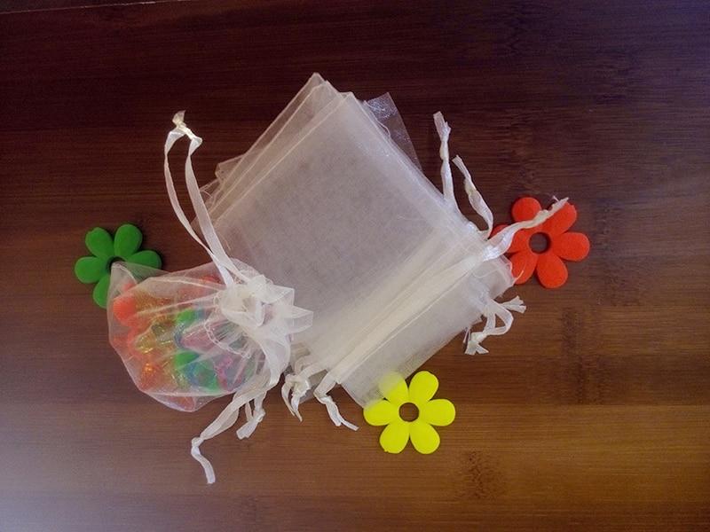 1000 pcs 9*12 cm 화이트 organza 선물 가방 보석 포장 표시 가방 팔찌/목걸이/wed 미니 원사 가방에 대 한 drawstring 파우치-에서보석 포장 & 디스플레이부터 쥬얼리 및 액세서리 의  그룹 1