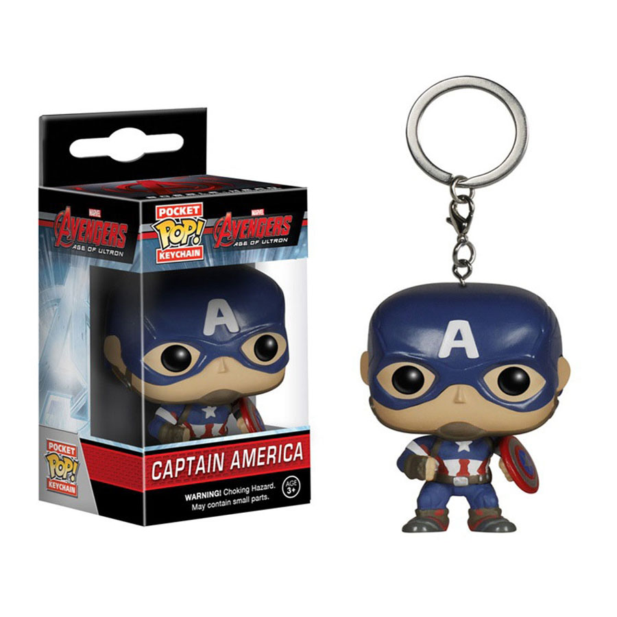 4cm Funko <font><b>Pop</b></font> Capatain America car keychain <font><b>marvel</b></font> toys 2016 New the <font><b>avengers</b></font> <font><b>2</b></font> <font><b>age</b></font> <font><b>of</b></font> <font><b>ultron</b></font> movie hulk spiderman figurines