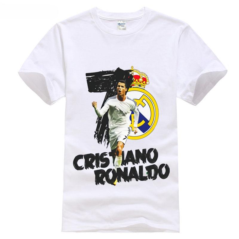 2018 Neuesten Männer Lustige Ronaldo No. 7 Mr Footbaler Madrid Golden Boot Soccersing Europa Programme Marke Shirts Jeans Freies Verschiffen Reich Und PräChtig