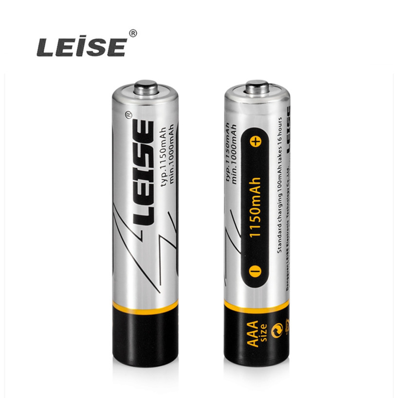 Leise New AAA 1150mAh NI-MH Rechargeable Battery 3A 1.2V  Rechargeable Batteries With Battery Case For Gift Free Shipping