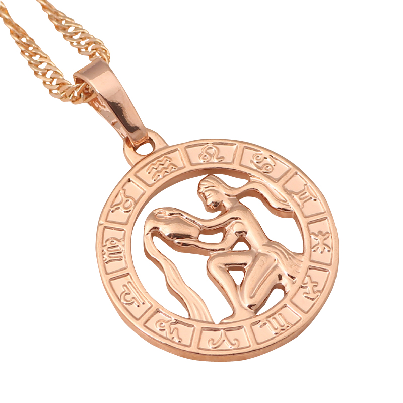 Round aquarius design fashion 12 constellation gold tone wholesale round aquarius design fashion 12 constellation gold tone wholesale retail fashion jewelry necklaces pendants ln456a in pendant necklaces from jewelry aloadofball Image collections