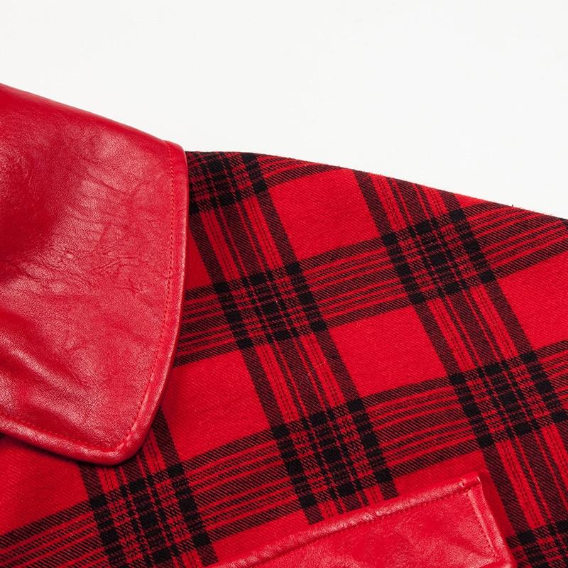 Femmes Unique Le Yigelila Cru 9613 Automne Vers Manteau Coton Lanterne Écossais Tissu Bas Tournent Poitrine Dernières Décontracté Veste Manches zqqrgwE4