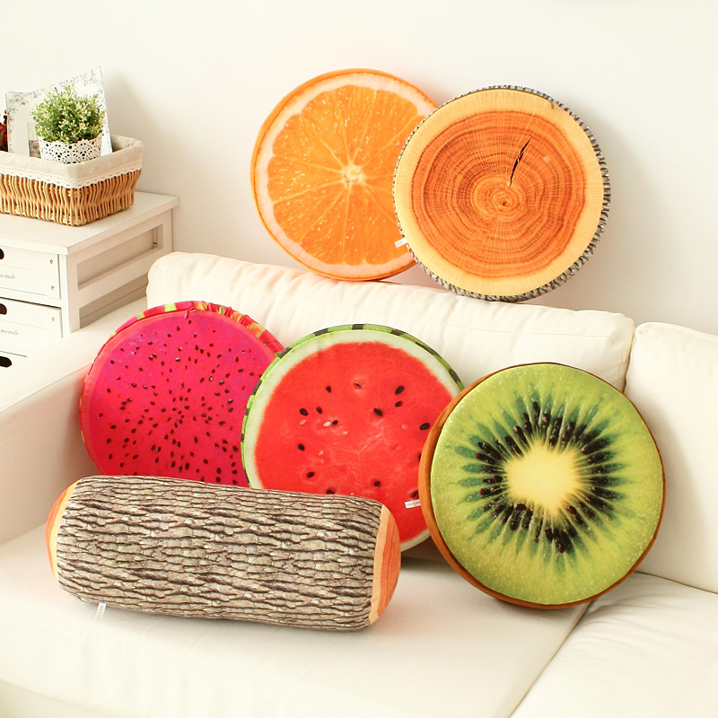 2017 New Product Creative 3D Fruitsu0026Cat Decorative Pillows Cushions Home  Decor Sofa Round Nap Seat Cushion