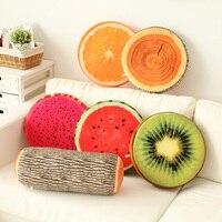 2015 New Product Creative 3D Fruits Cat Decorative Pillows Cushions Home Decor Sofa Round Nap Seat