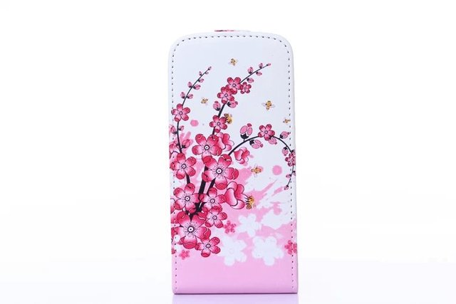 For Apple iphone 6 For iphone6 4.7 inch Vertical Design Flower Butterfly Painted Leather Flip Case Cover