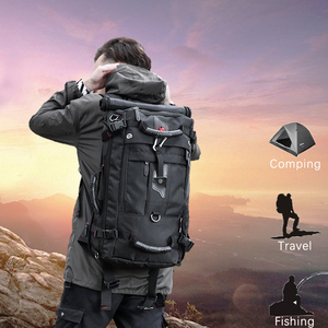 Image 2 - KAKA 50L Waterproof Travel Backpack Men Women Multifunction 17.3 Laptop Backpacks Male outdoor Luggage Bag mochilas Best quality