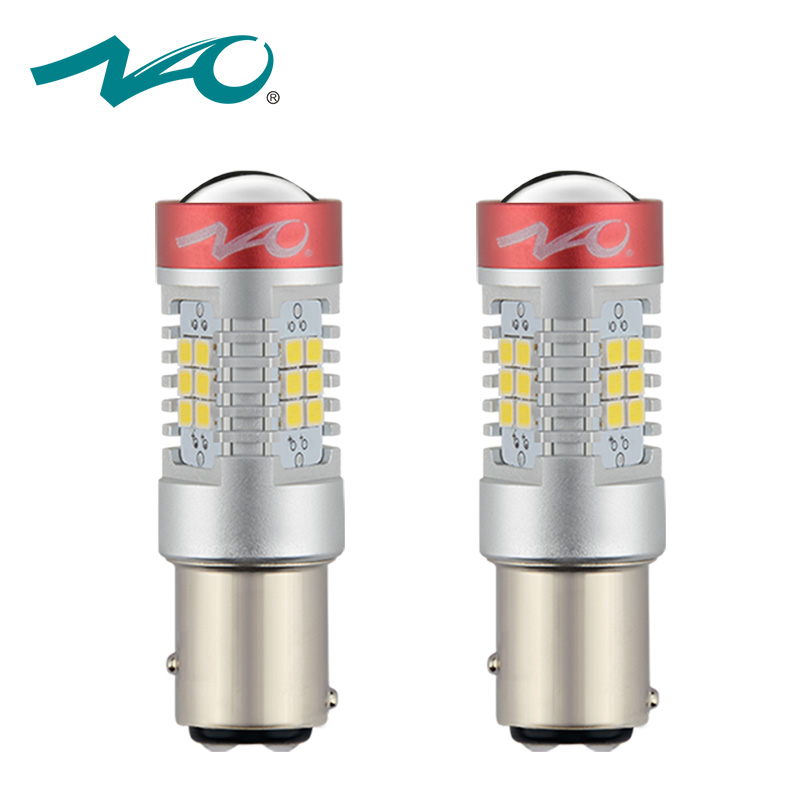 цена на 2x 1157 led p21 5w bay15d led car red p21/5w brake light 12V bay15d car led bulb p21/5w motorcycle auto lamp 5.5W 1300LM NAO