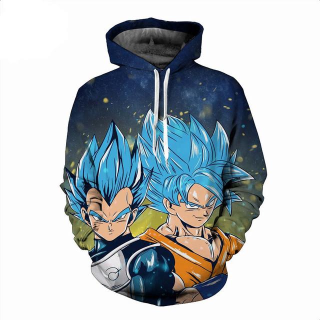 Goku Vs. Vegeta 3D Hoodie