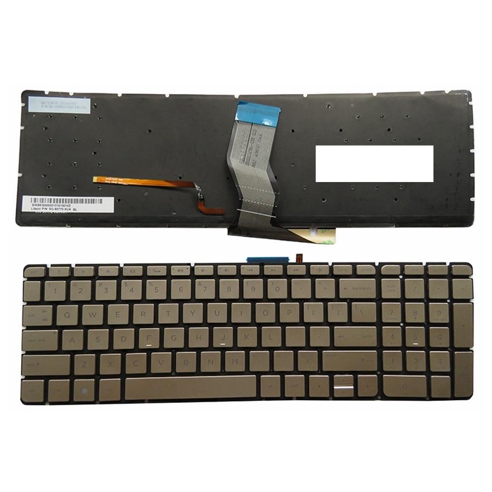 English Laptop Keyboard For HP For Pavilion 15-ab 15-ak 15-bc 17-ab 15-ab000 15-ab100 15-ab200 15z-ab100 No Frame US Backlit