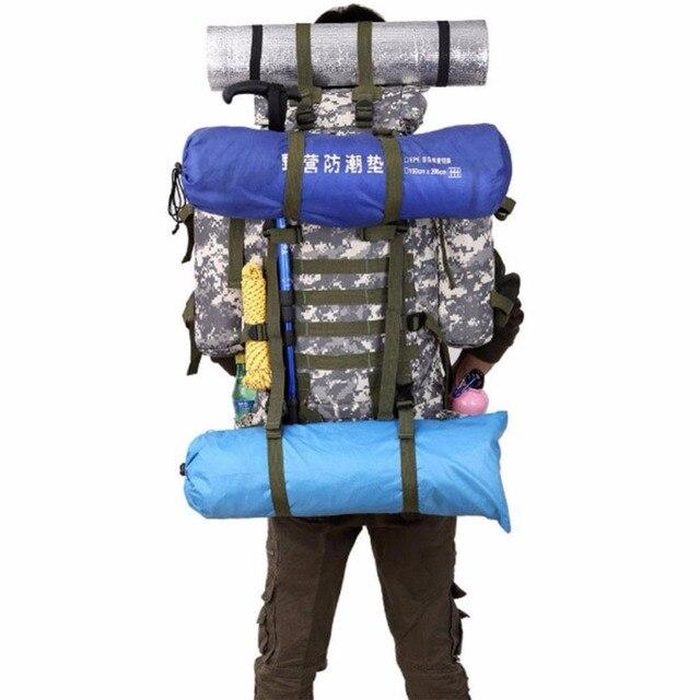 meilleur site web 5e063 d1833 € 60.45  80L En Plein Air Militaire Tactique Camouflage Sac de Grande  Capacité Hommes Femmes Camping Randonnée Alpinisme sac de Voyage  Imperméable Sac ...