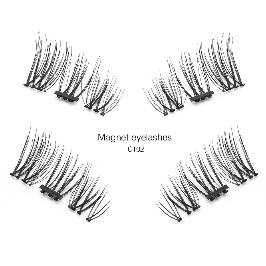 Shozy Pcs Pair 3D 0.2mm Magnetic Eyelashes Extension Eye Beauty Makeup Accessories Soft Hair Fake Eyelashes False lashes CT
