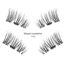 Shozy Pcs/Pair 3D 0.2mm Magnetic Eyelashes Extension Eye Beauty Makeup Accessories Soft Hair Fake Eyelashes False lashes-CT
