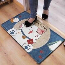 Cute cartoon cat carpet rectangular non-slip bathroom door mat