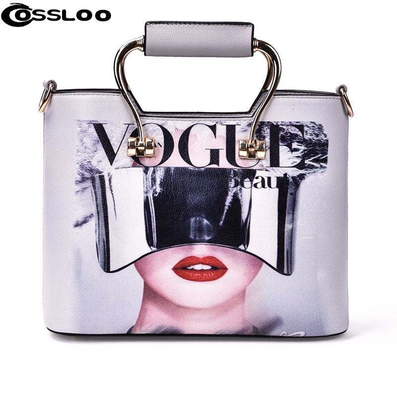 COSSLOO Women bag women leather handbag brand shoulder bag messenger bags bolsos European and American Style purse animal prints 2015 european and american brand women handbag shoulder bag crocodile pattern handbag handbag messenger bag rse wallet 6 sets