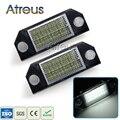 2 Pcs LED Luzes Da Placa de Licença Do Carro 12 V Branco SMD3528 LEVOU Número placa Lâmpada Kit lâmpada Livre de Erros Para Ford Focus 2 C-Max acessórios