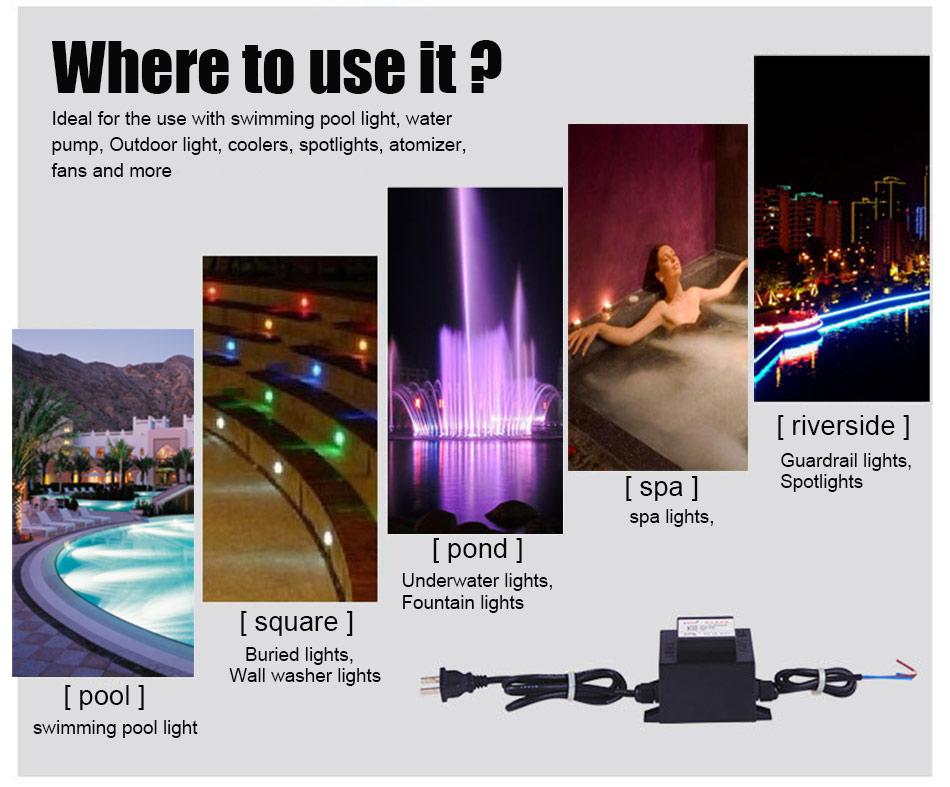 HOTOOK AC 12V napajanje IP67 vodootporni podvodni LED drajver 60W - Različiti rasvjetni pribor - Foto 4