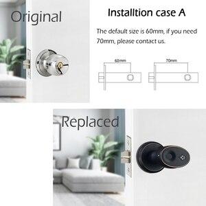 Image 4 - Zinklegering Biometrische Vingerafdruk deurslot beveiliging cilinder deurslot Roestvrij elektronische waterdichte deurslot