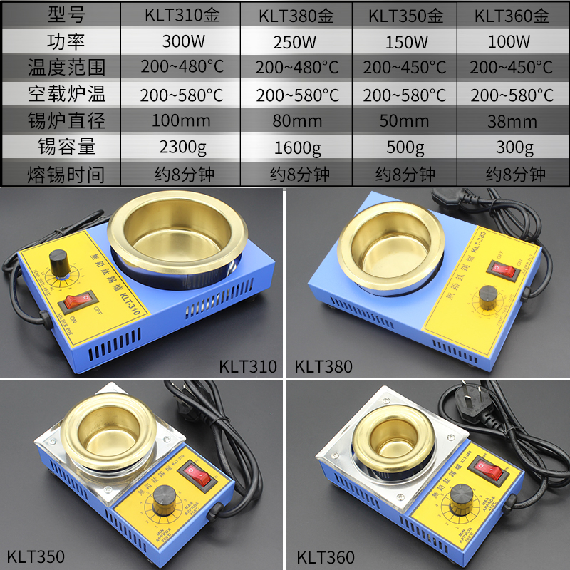 NOVFIX High Quality Electric Soldering Irons 100W 150W 250W 300W Temperature Controlled Soldering Pot Melting Tin Pot Tin Cans