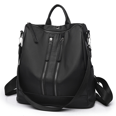 Luxury Women Backpack Large Capacity Ladies Oxford Backpack Double Zipper School Bags For Teenager Girls