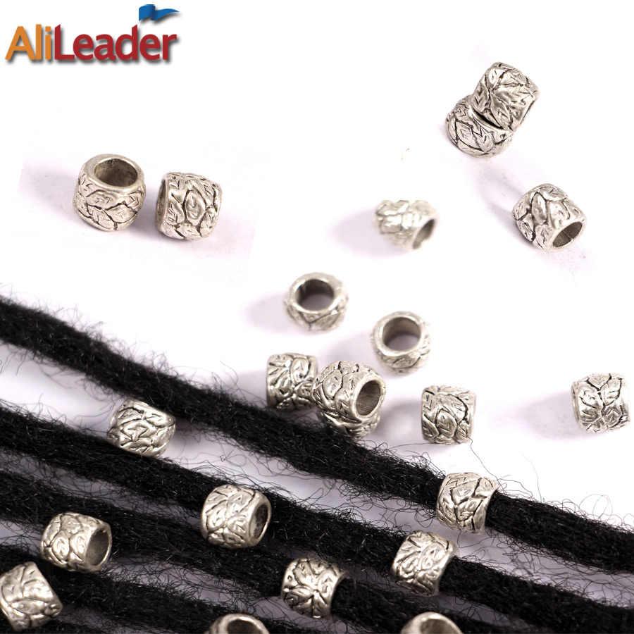 Alileader 10 шт./лот/Серебристые бусины дредлок разные 4 стиля мм 7 мм и 5 мм отверстие коса манжеты клип бусины нерегулируемые Кольца для волос