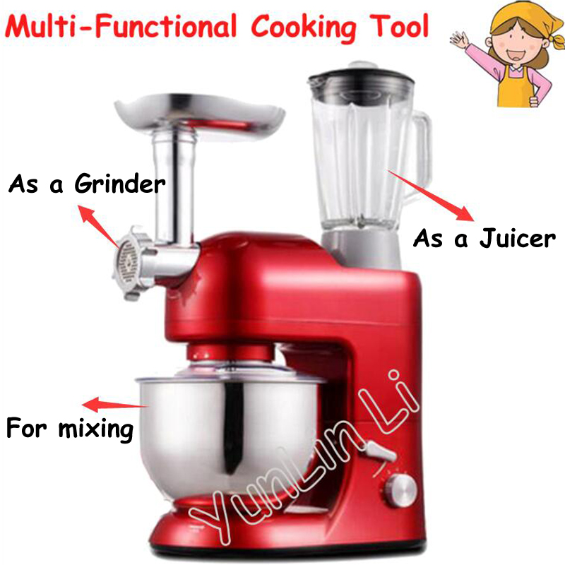 5L Multi-Functional Cooking Tools Household Noodle Maker Meat Grinder Egg Beater Butter Mixing Machine SM-1086S peanut butter maker general mills chocolate electric nutmeg muller grinder machine cooking tools home kitchen dining bar