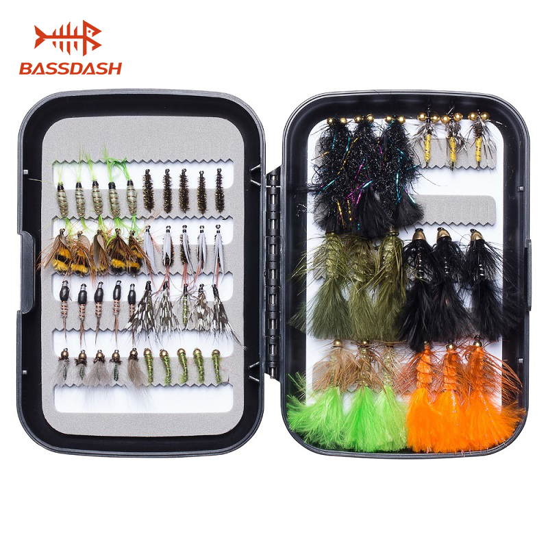10pcs//set Nymph and Streamer Fly Lure Assotment for Trout Fly Fishing Flies