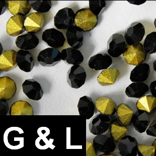 Ss11.5-ss25 Jet Color Pointback Rhinestones Glass Material Beads Used For Jewelry Nail Art Decoration ss11 5 ss25 siam color pointback rhinestones glass material beads used for jewelry nail art decoration