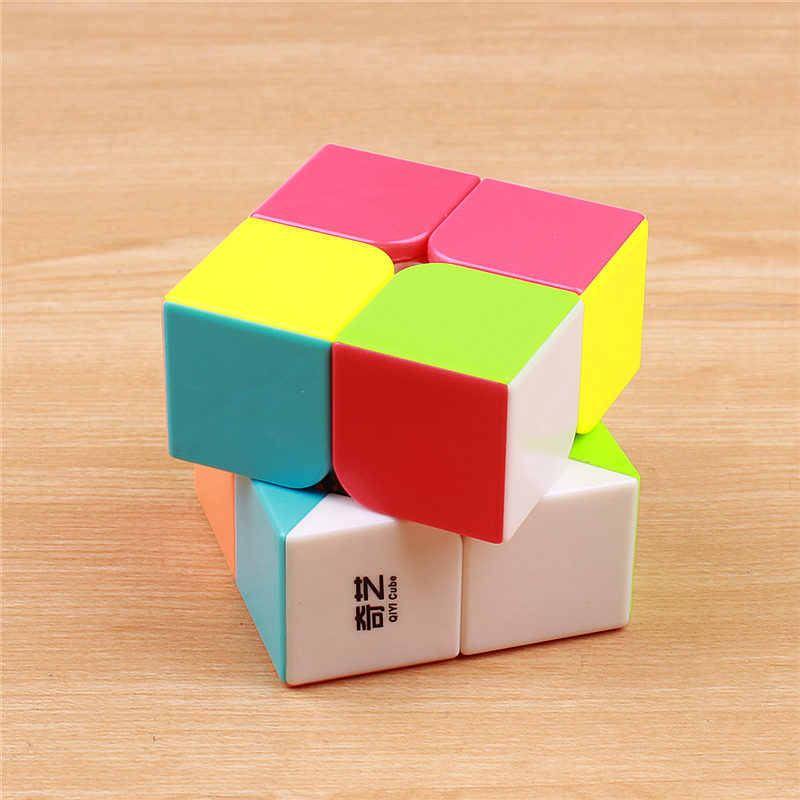QIYI QIDI 2X2X2 MAGIC SPEED CUBE POCKET STICKERless 50 MM PUZZLE CUBE - ფაზლები - ფოტო 4