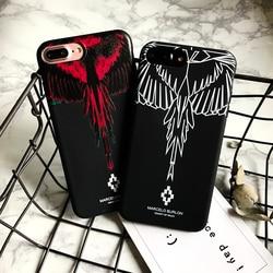 Coque en Silicone souple Style Marcelo Burlon aile colorée pour iPhone XS Max 7 8 6 6 S Plus coques de téléphone pour iPhone XR