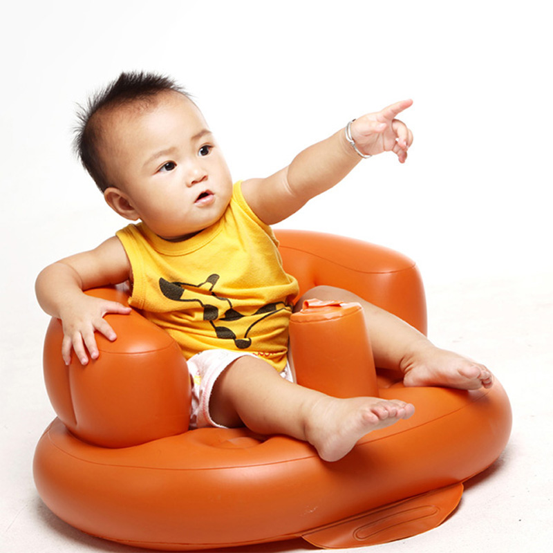 Inflatable Seat Sofa: Baby Inflatable Feeding Bath Chair Children's Folding Seat