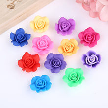 100Pcs/lot New Rose DIY Bead Curtain DIY Bracelet Necklace Child Educational Toys(China)