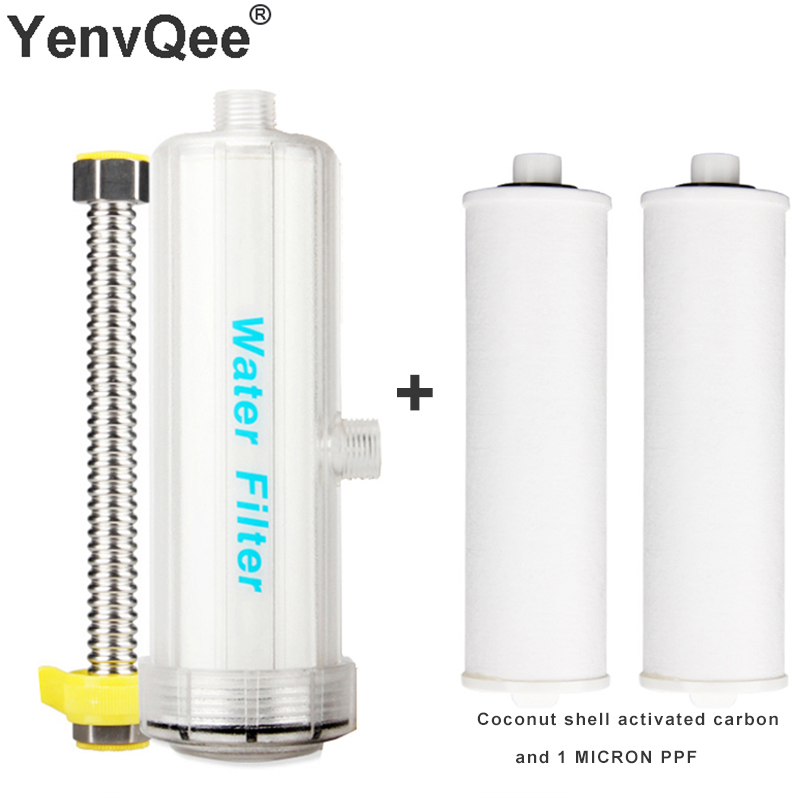 Bath Shower Water Filter Softener Removal Chlorine Heavy Metal Purifier Shower Washing Machine Filter For Home Health Bathing in line bathroom shower filter bathing water filter purifier water treatment health softener chlorine removal for kitchen home