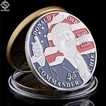 Amerykański 45. Prezydent Donald Trump moneta biały dom usa statua wolności srebrna replika monety kolekcja