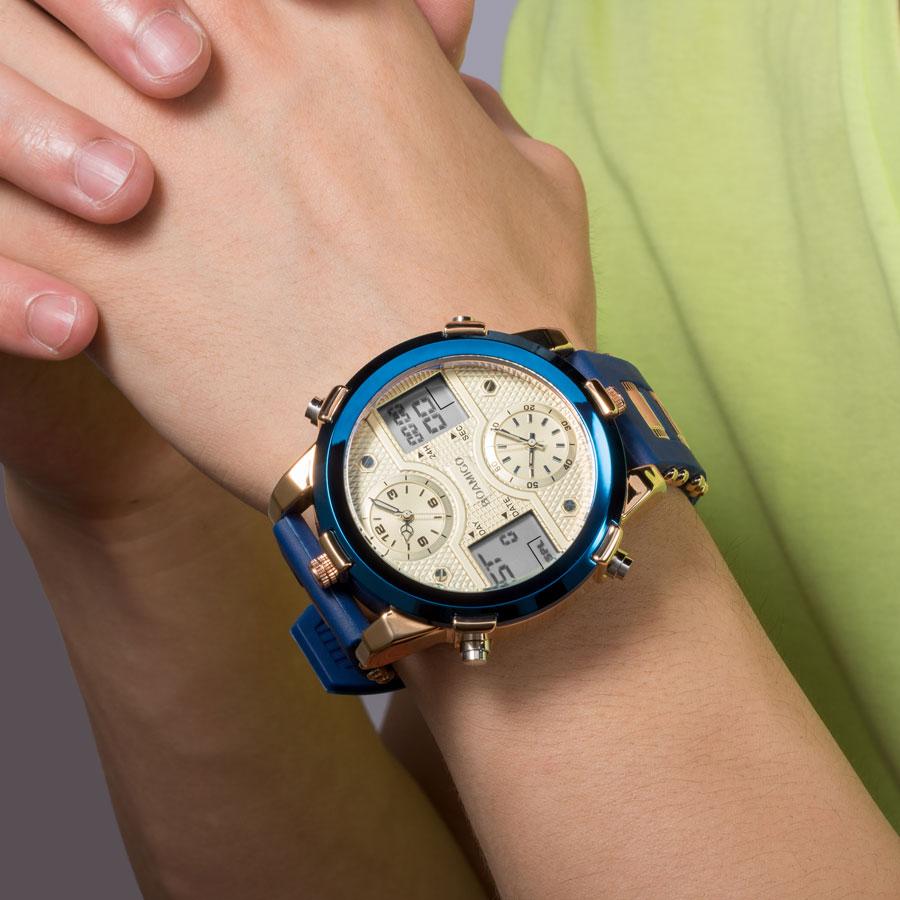 HTB1Wujic8Cw3KVjSZFlq6AJkFXaT BOAMIGO Mens Watches Top Luxury Brand Men Sports Watches Men's Quartz LED Digital 3 Clock man Male Wrist Watch relogio masculino