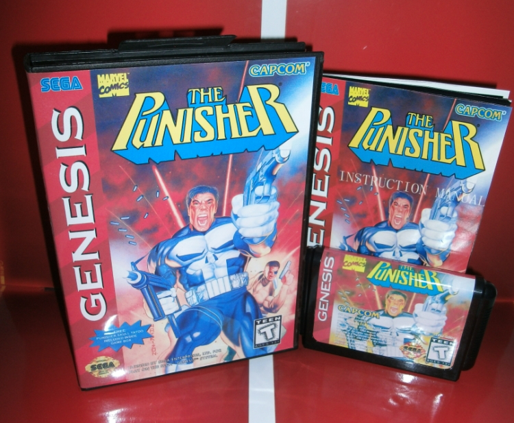 Juegos de Sega tarjeta-The Punisher con Caja y Manual para Sega MegaDrive Consol