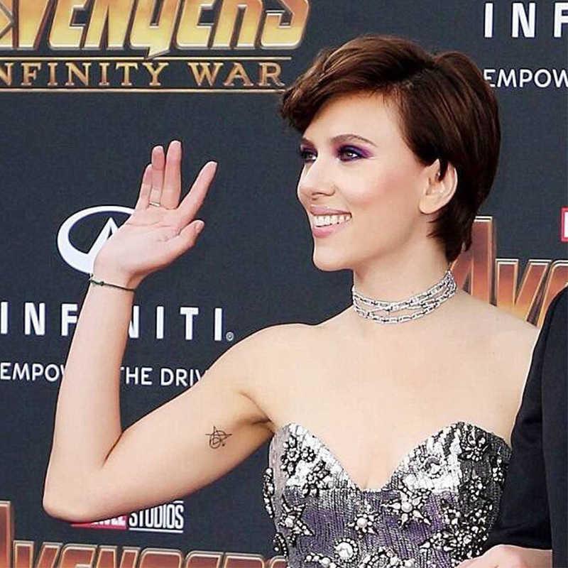 Homem de ferro Tony Stark Adesivos Tatuagem Cosplay Costumes Acessórios Adereços Vingadores Endgame Logotipo